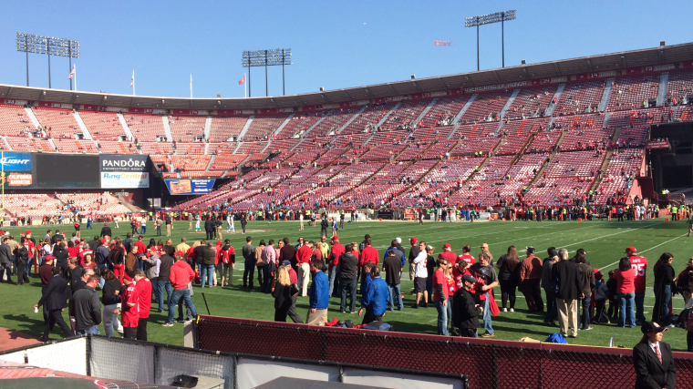 iPhone 5S at Candlestick Park