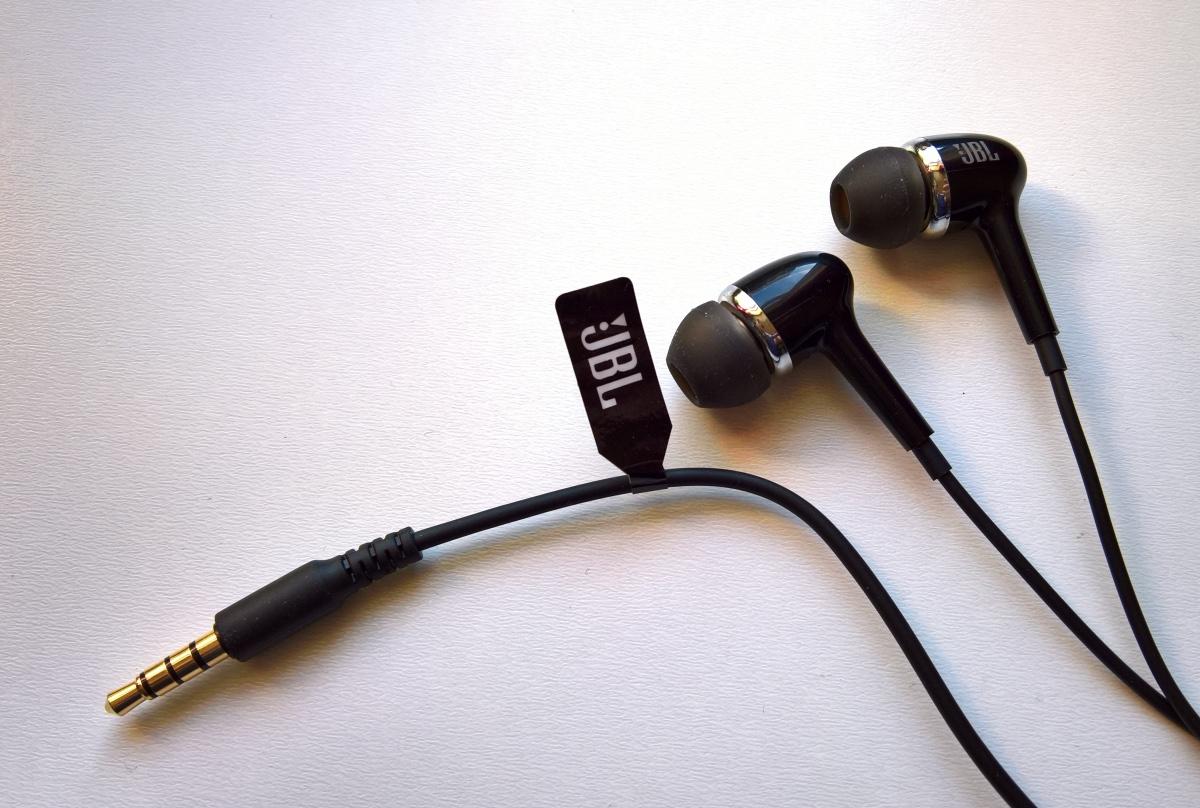 JBL in-box headphones