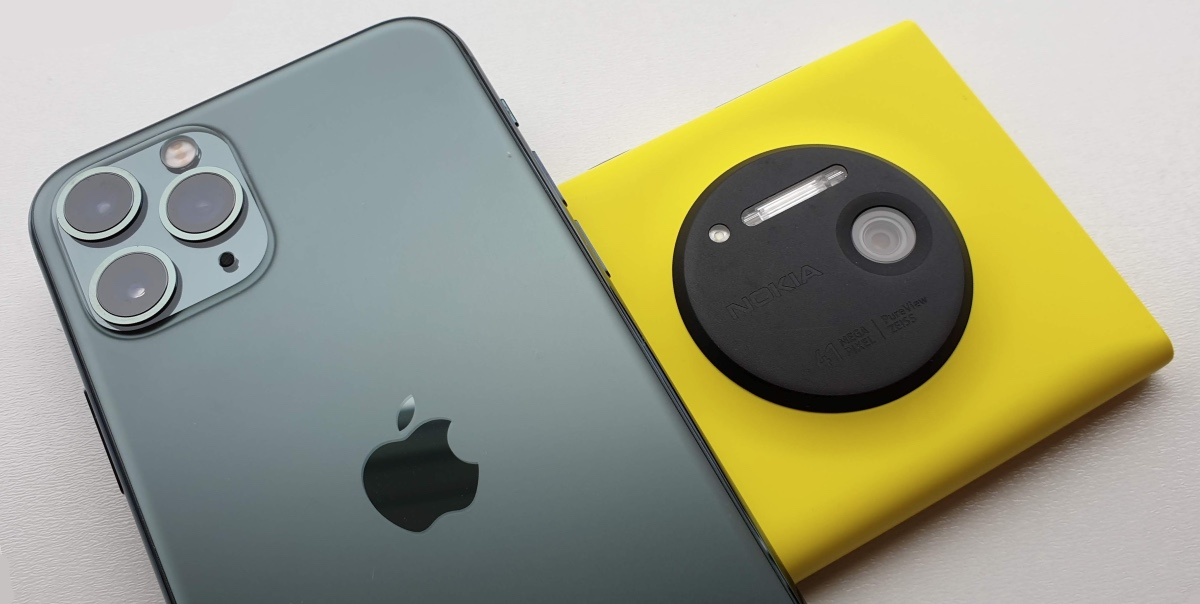 iPhone 11 Pro and Lumia 1020