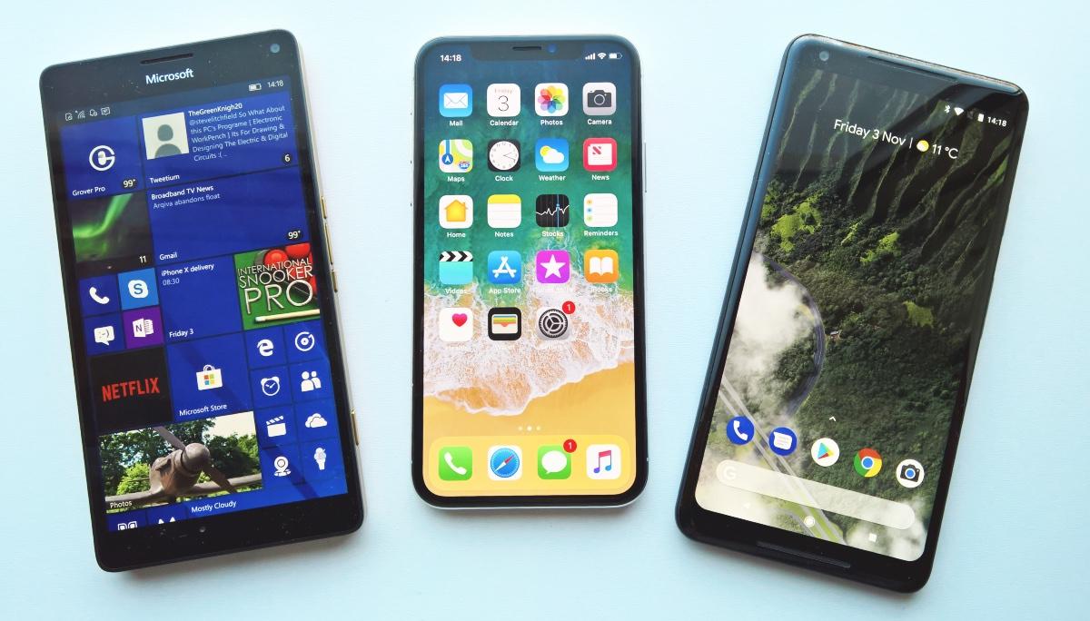 950 XL - iPhone X - Pixel 2 XL