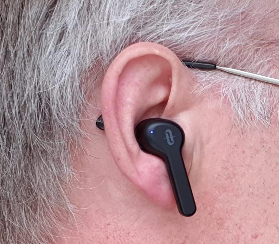 Bud in ear