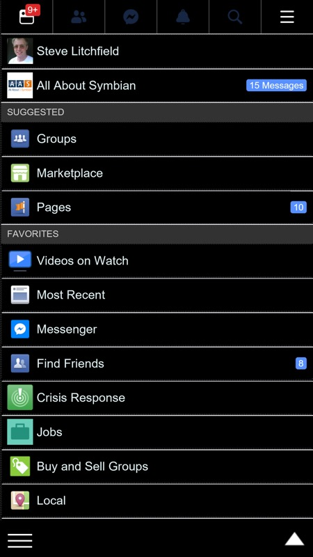 Screenshot, Facebook client