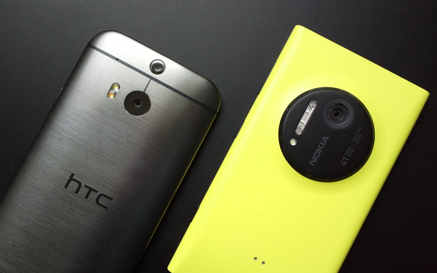 HTC One (M8) and Lumia 1020