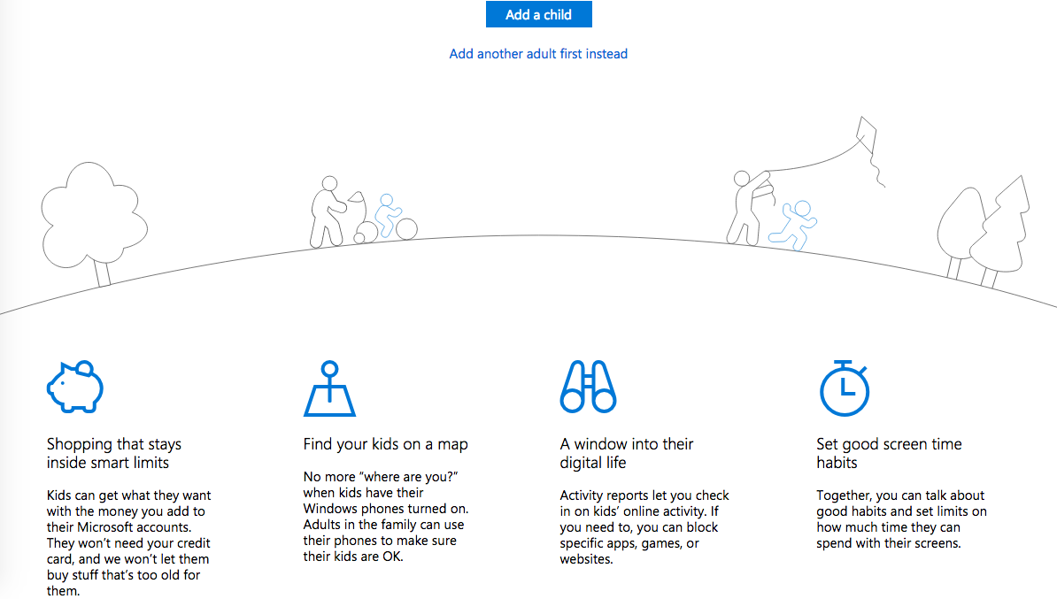 A Microsoft Family snapshot