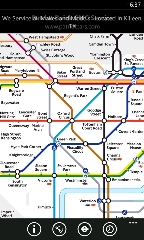Tube Map, MX Data