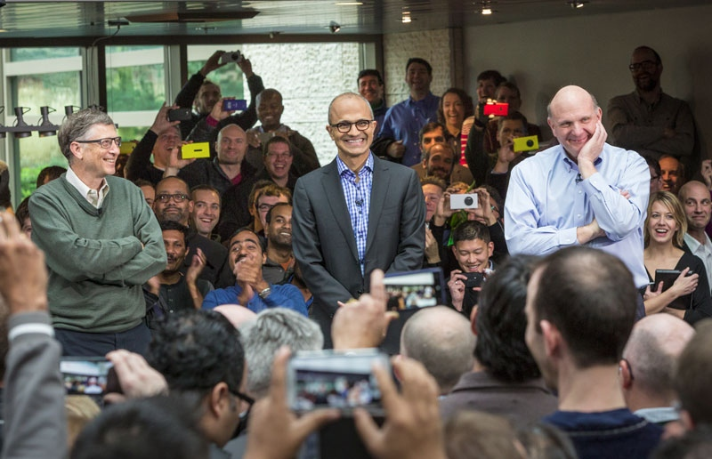 The Three Amigos of Microsoft - Gates, Nadella, Ballmer
