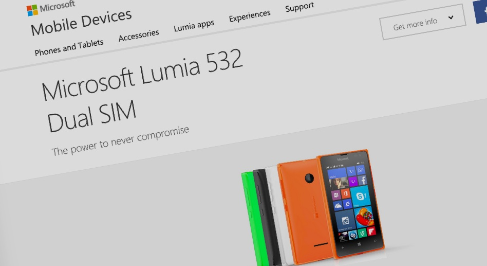 Lumia 532 Never Compromise