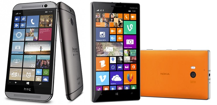 HTC One (M8) for Windows, and Lumia 930