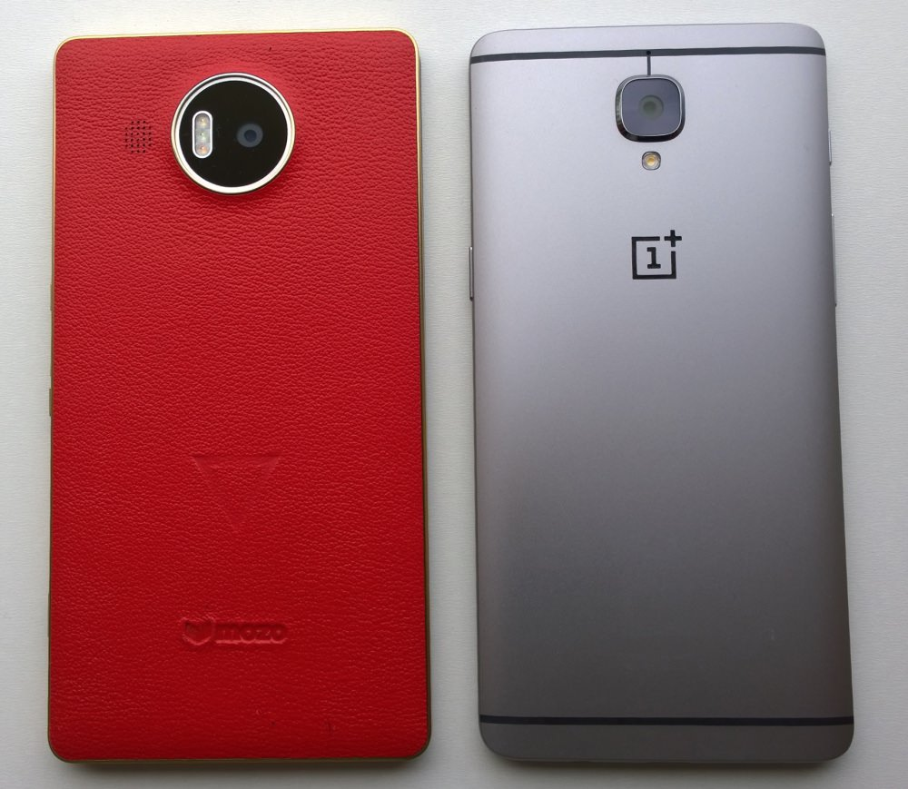 Lumia 950 XL and OnePlus 3