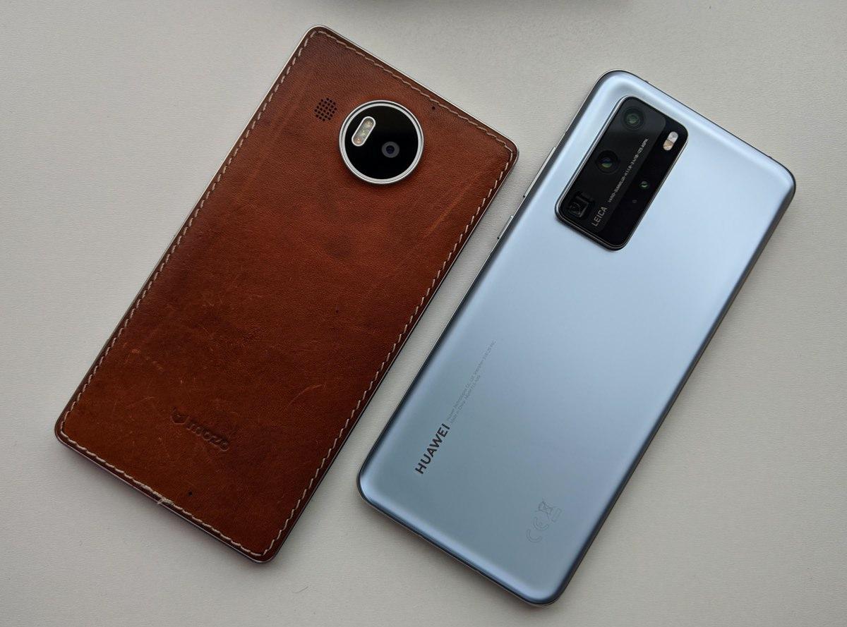 Lumia 950 XL and Huawei P40 Pro