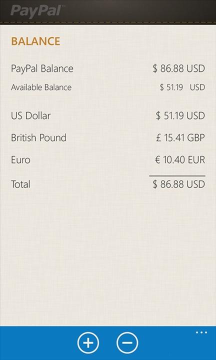 Paypal on Windows Phone