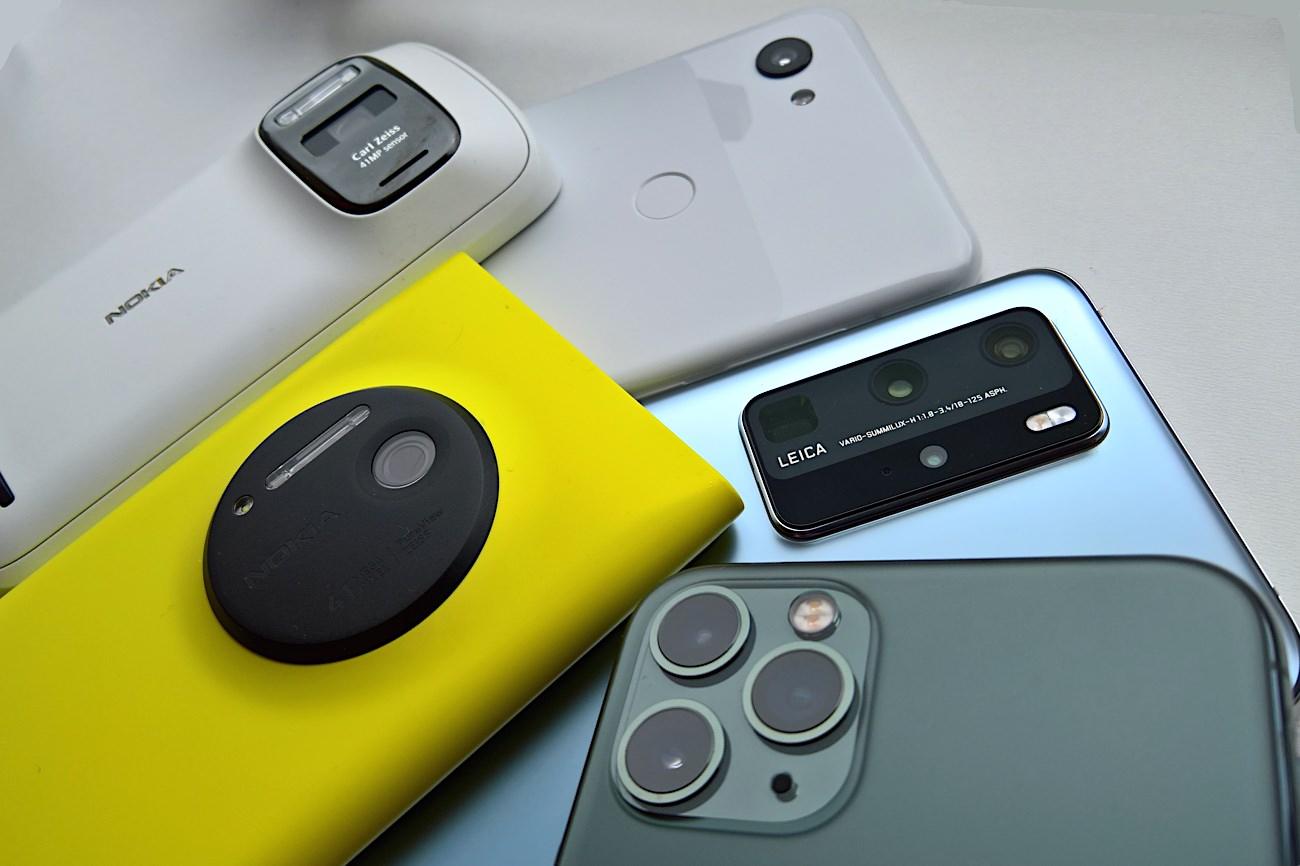 Nokia 808, Lumia 1020, Pixel 3x XL, Huawei P40 Pro, iPhone 11 Pro