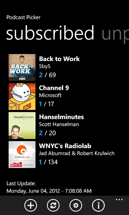 how to use podcast in windows phone