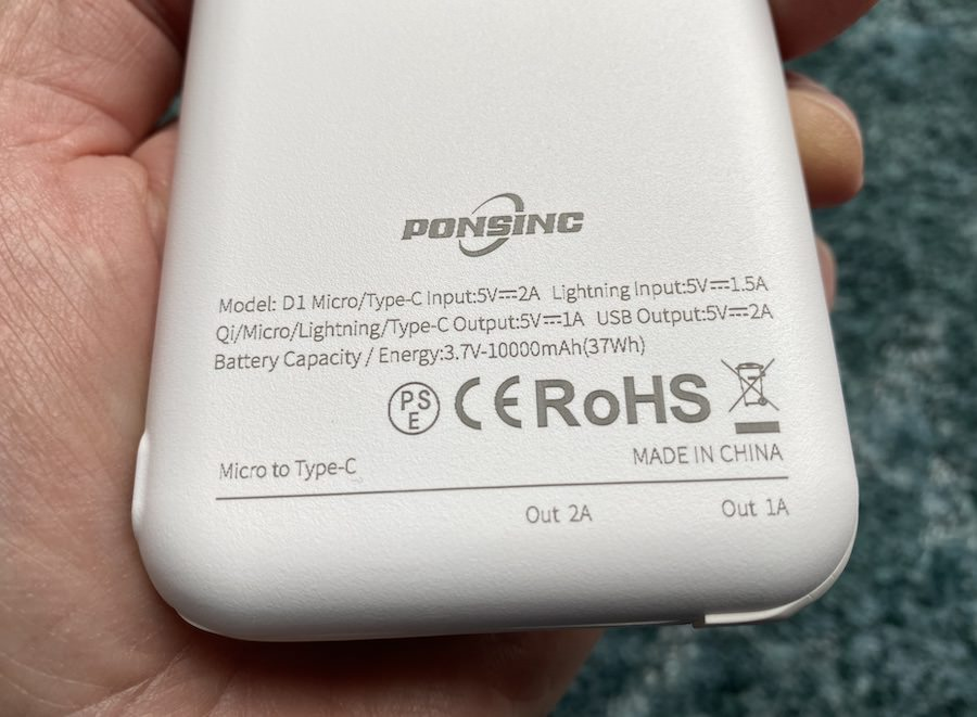 PONSINC power bank