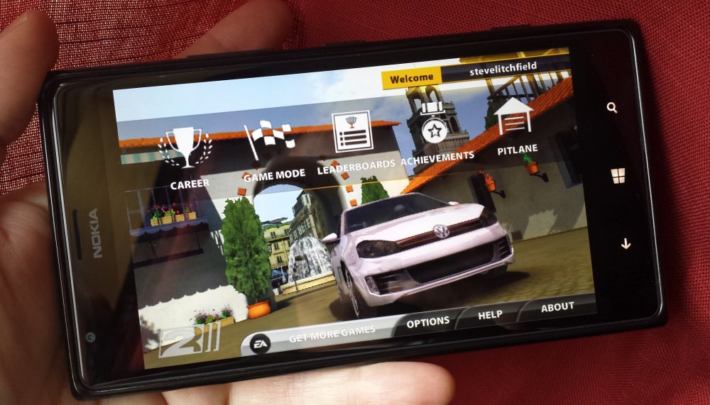 Real Racing 2 on the Lumia 1520....