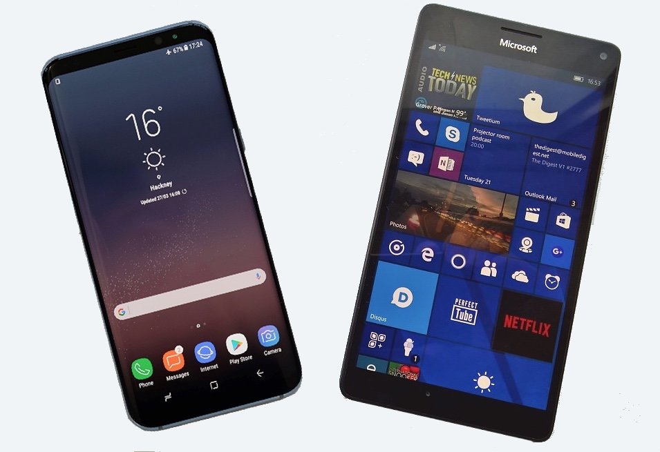 Galaxy S8 and Lumia 950 XL