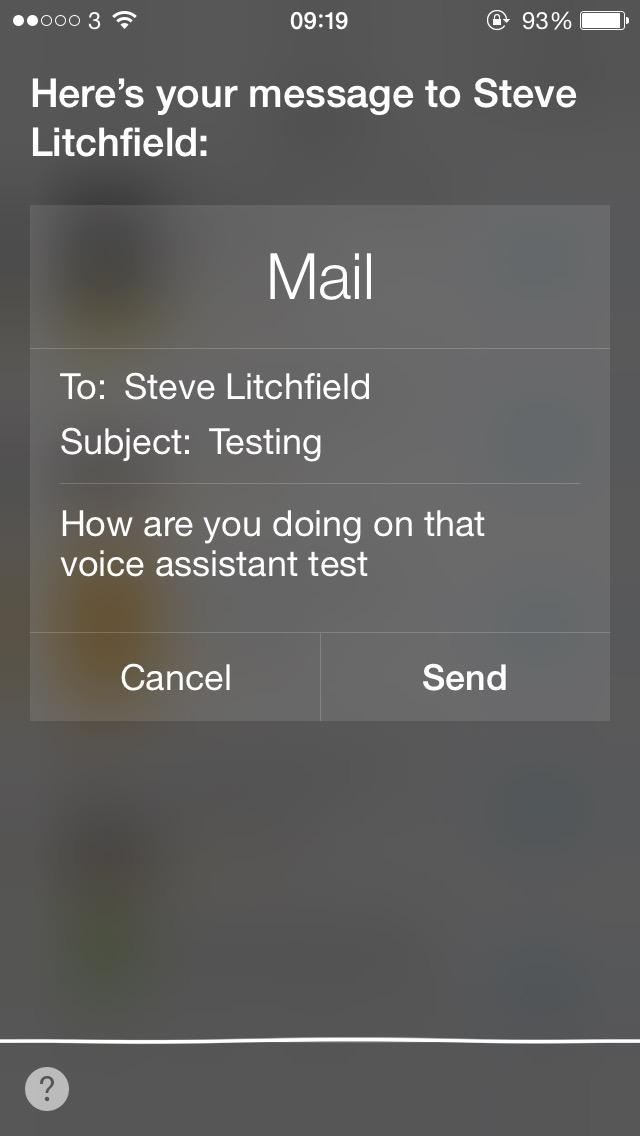 Screenshot, Siri