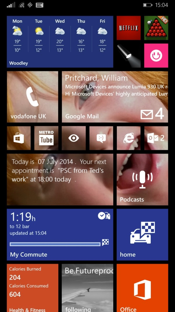 Start screen on Windows Phone 8.1