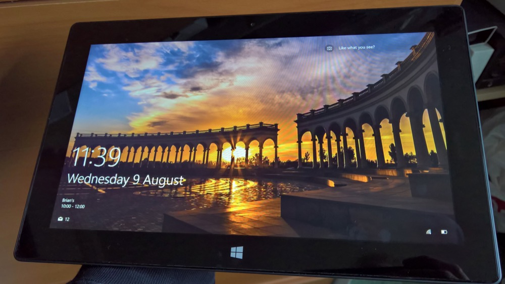 Bing Spotlight image of the day on a Surface device