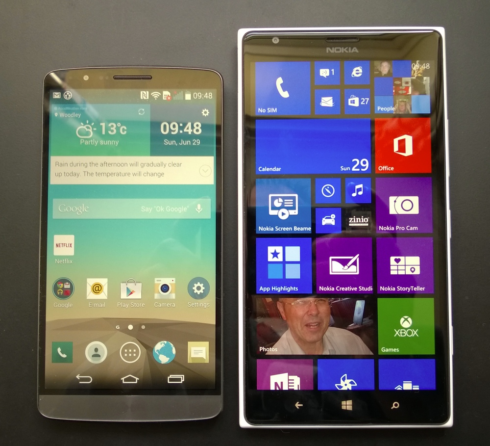 Head to head: Nokia Lumia 1520 and LG G3