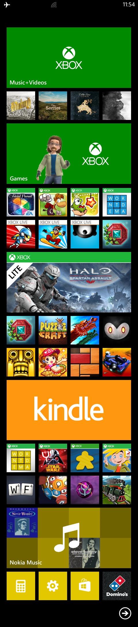 Xbox Portable Live Tiles