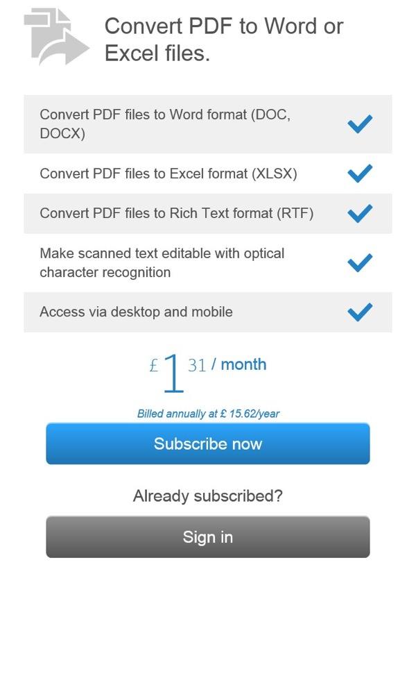 Screenshot, PDF reader round-up, Windows Phone