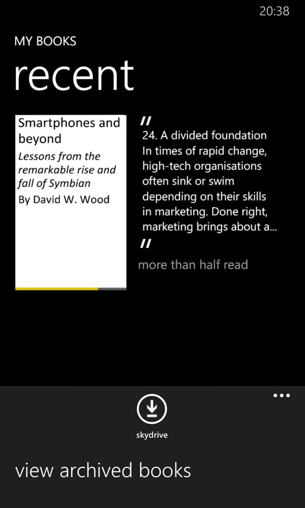 Screenshot, PDF reader round-up, Windows Phone