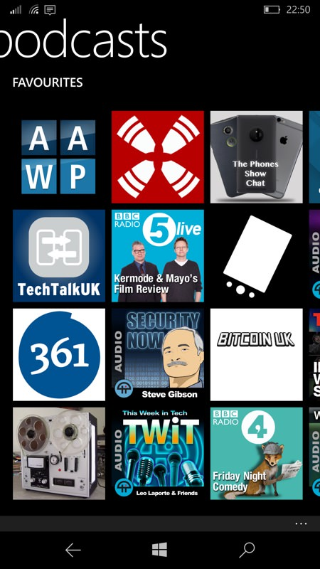 Screenshot, Podcasts