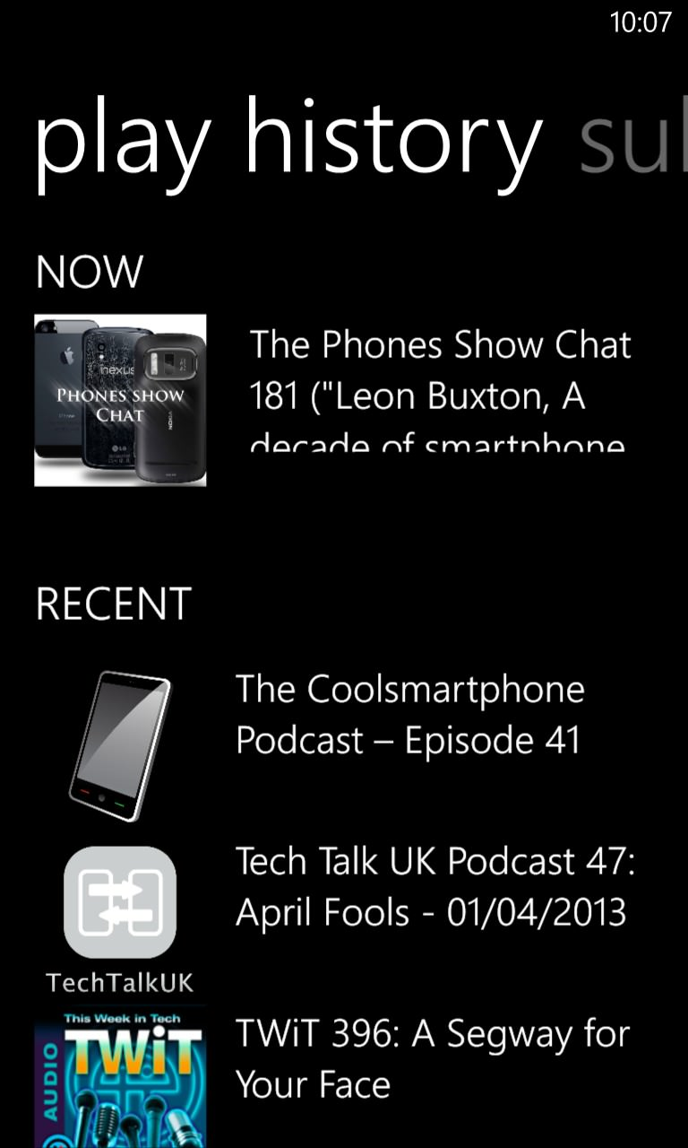 Screenshot, Podcatcher round-up