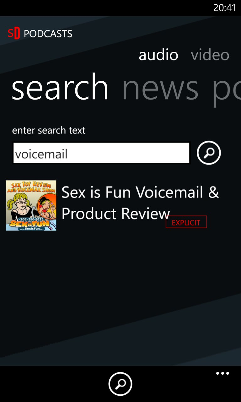 Screenshot, Podcatcher round-up