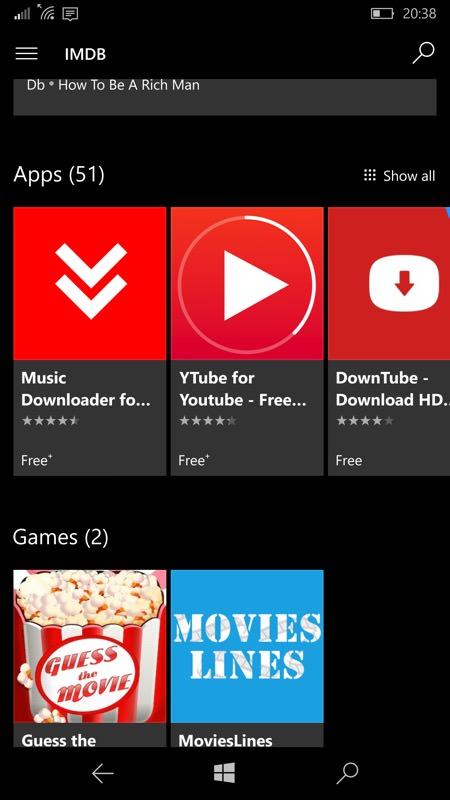 Screenshot, Windows 10 Mobile...