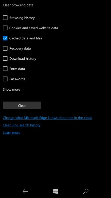 How to clear storage space on windows 10 mobile how to clear space on windows phone and windows 10 mobile ccuart Choice Image