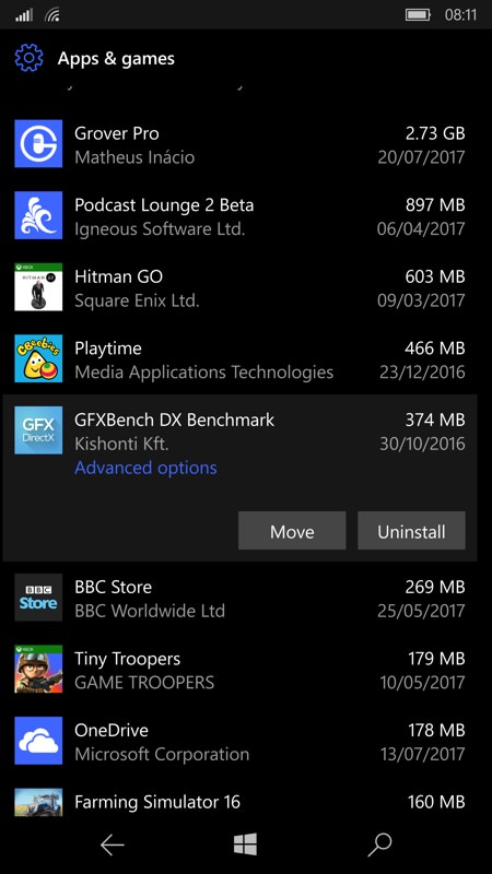 Screenshot, How to clear space on Windows Phone and Windows 10 Mobile
