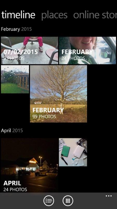 Screenshot, Lumia Storyteller
