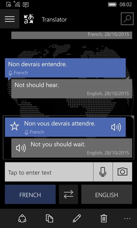 Translator screenshot