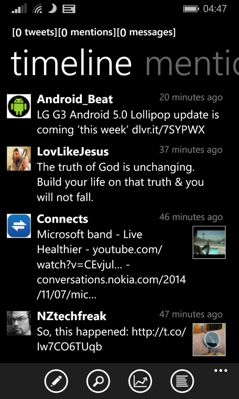 Screenshot, Twitter client comparison