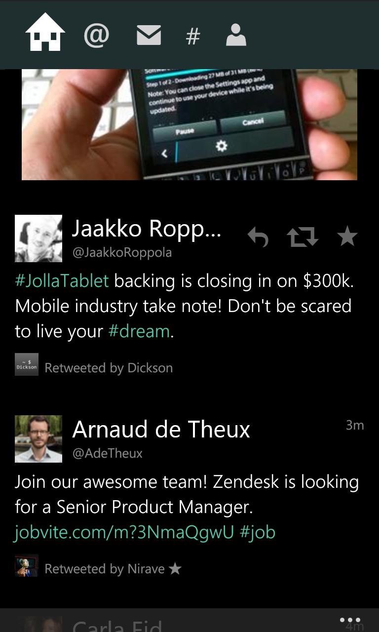 Screenshot, Twitter client comparison