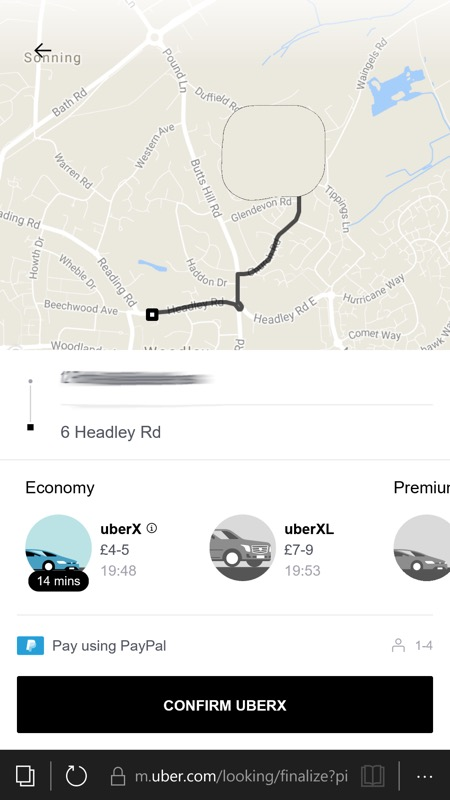 Screenshot, Uber