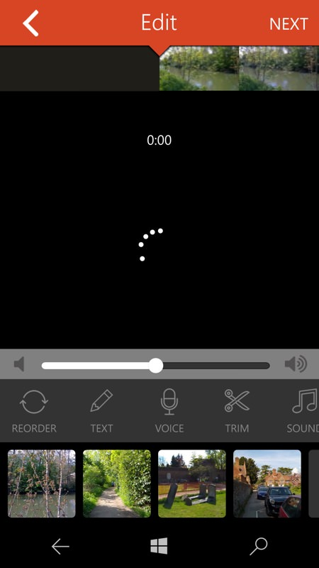 Screenshot, video editing feature