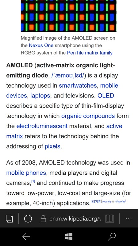 Screenshot, Wikipedia feature
