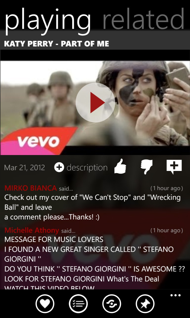 Screenshot, YouTube feature