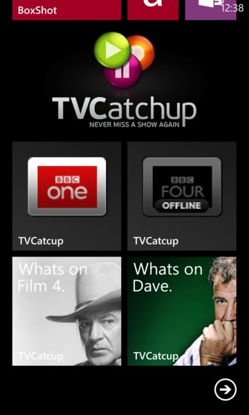 TVCatchup on Windows Phone 8
