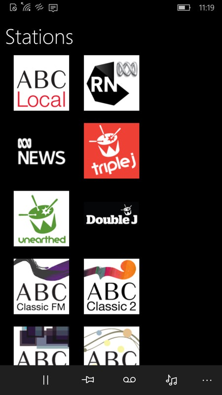 ABC Radio screenshot