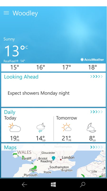 Screenshot, AccuWeather