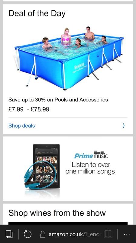 Screenshot, Amazon web