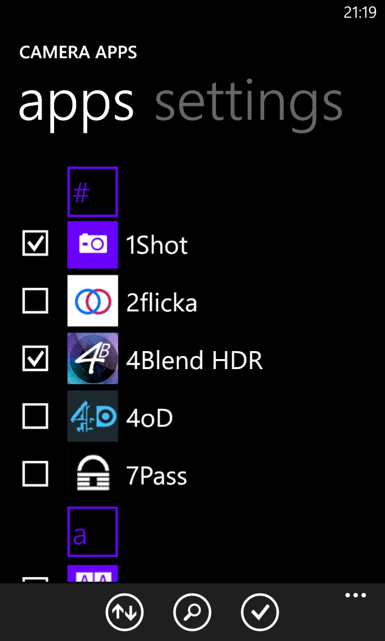 Screenshot, App Folder