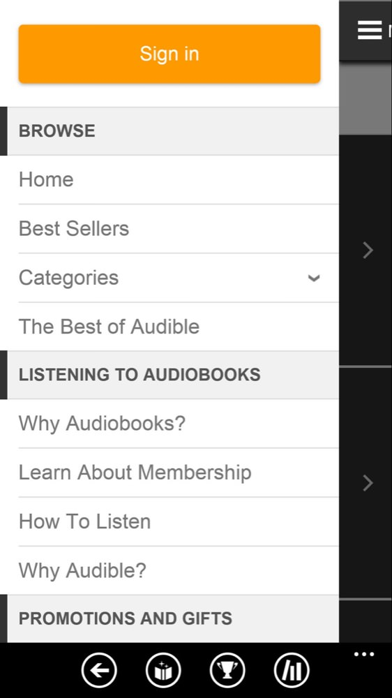 Audible screenshot