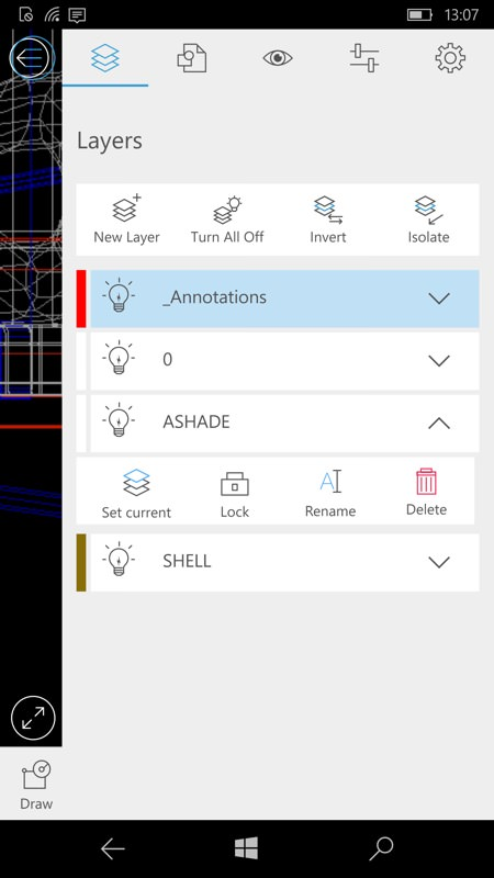 Screenshot, AutoCAD 360