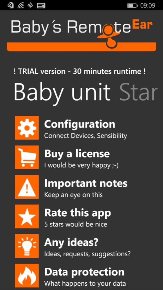 Screenshot, Baby's RemoteEar