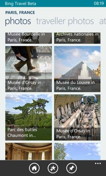 Screenshot, Bing Travel Beta